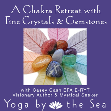 chakra retreat with gemstones at yoga by the sea